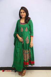Actress Sri Divya Pictures in Green Salwar Kameez at Rayudu Team Meet 0098