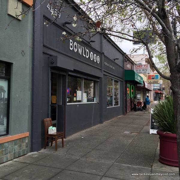 exterior of Bowl'd BBQ Korean Stone Grill in Oakland, California