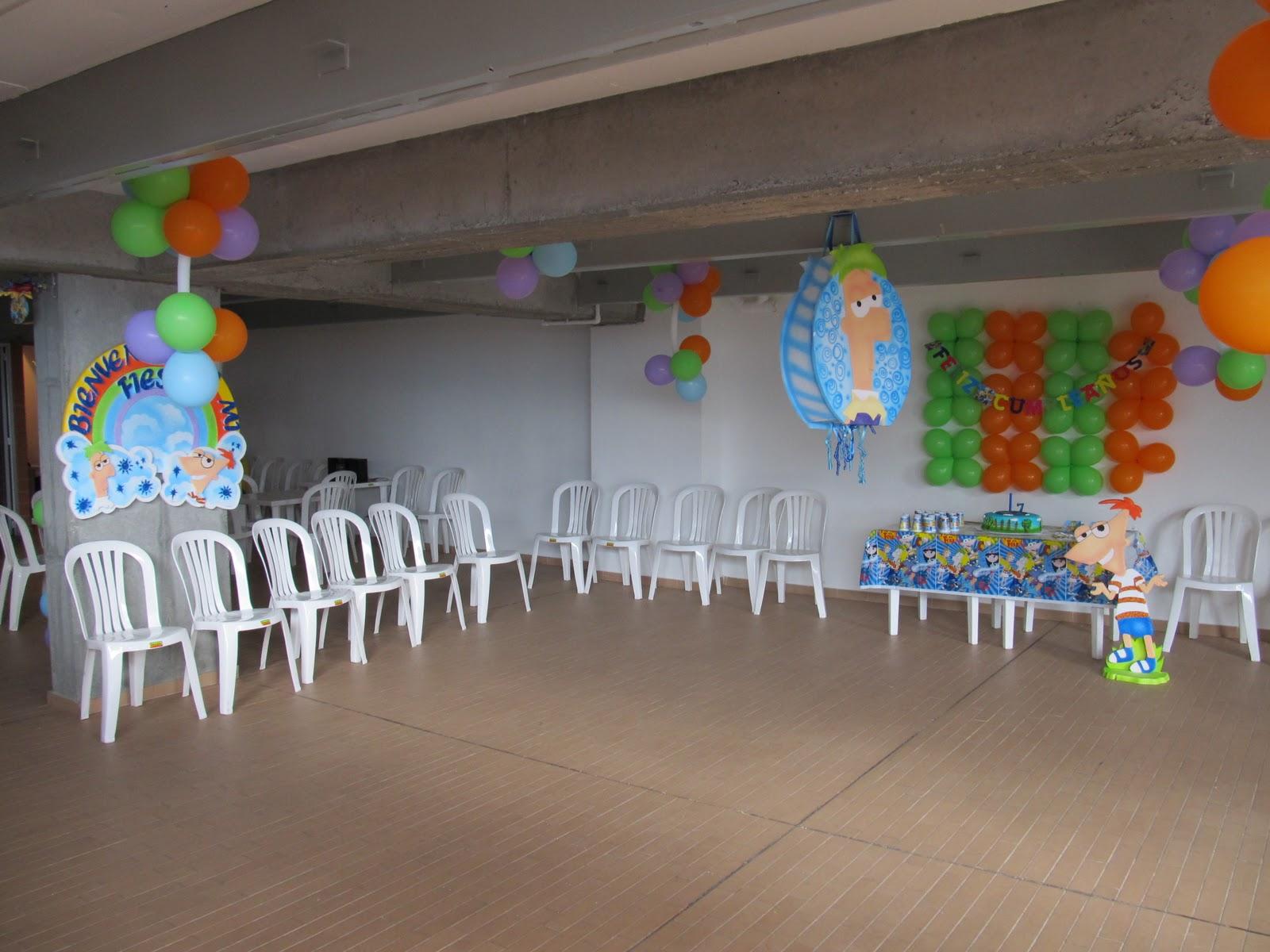 Phineas and ferb fiestas infantiles y recreacionistas - Globos fiestas infantiles ...