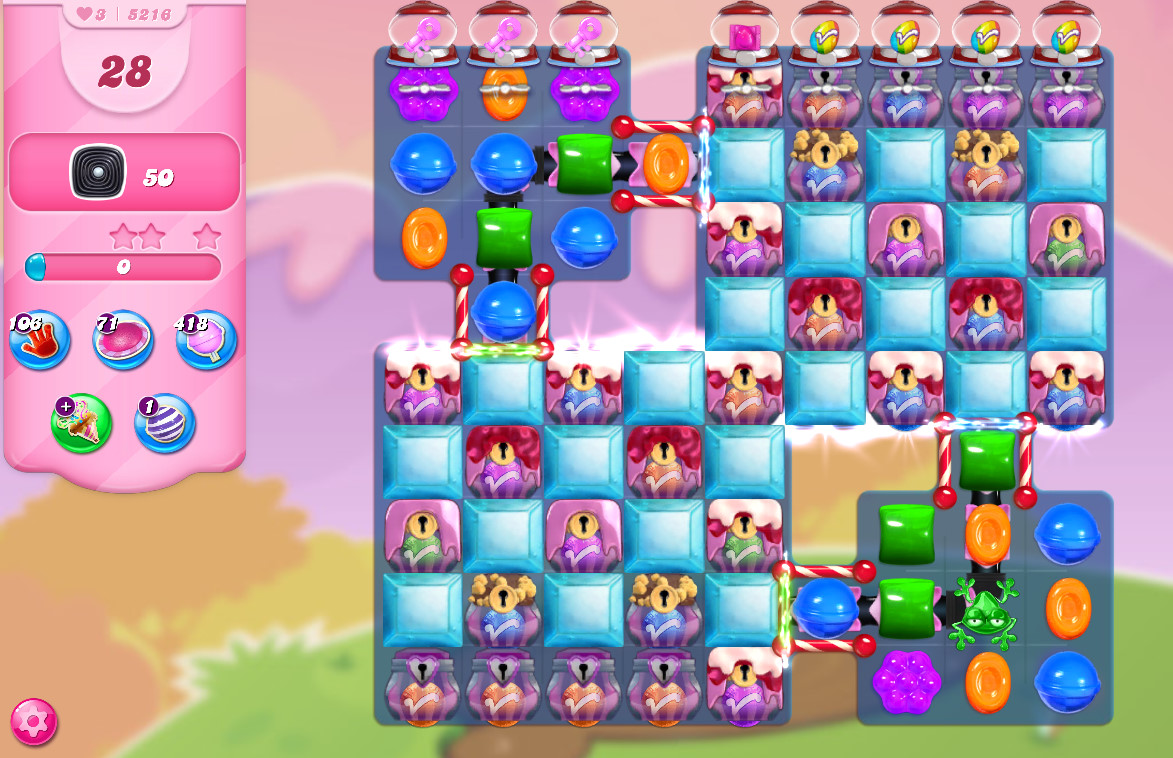 Candy Crush Saga level 5216