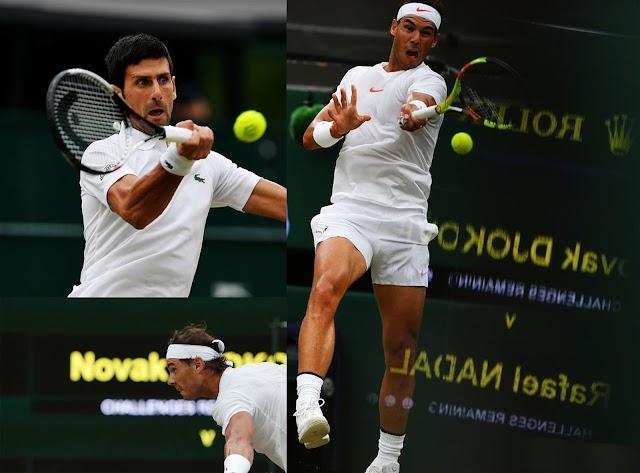 Tay vợt Djokovic đã vượt qua Nadal để vào chung kết Wimbledon