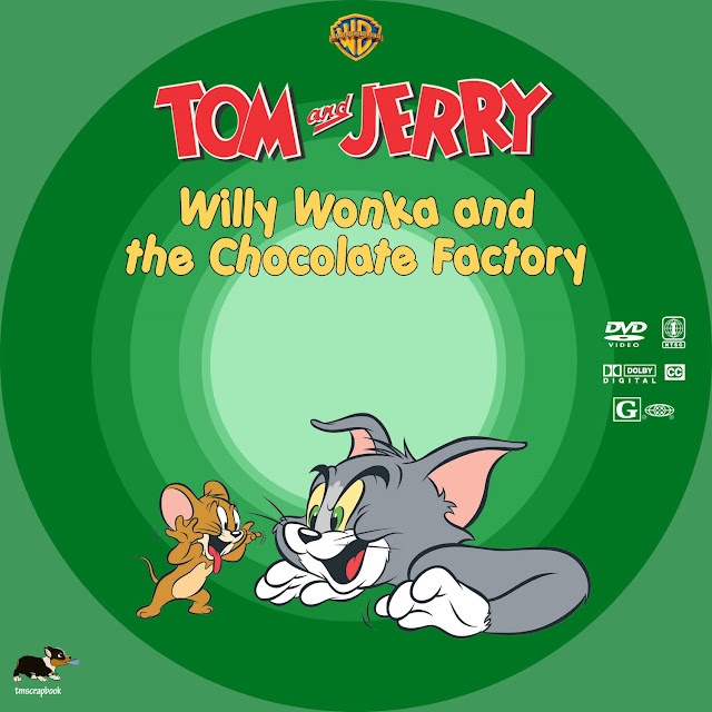 Tom and Jerry: Willy Wonka and the Chocolate Factory DVD Label