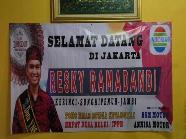 Akun sosial media Resky Ramadandi