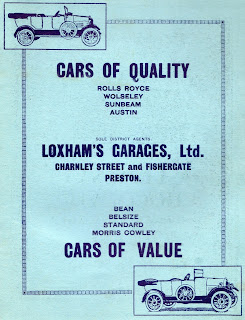 Loxham's Garages Ltd 1922 advert