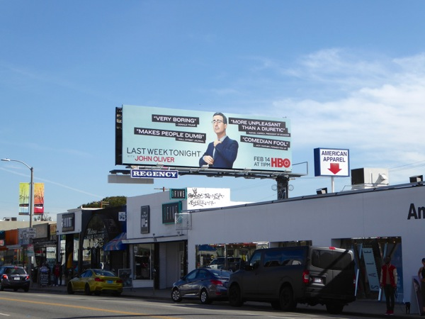 Last Week Tonight season 3 HBO billboard