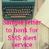 Sample letter to bank for SMS alert service
