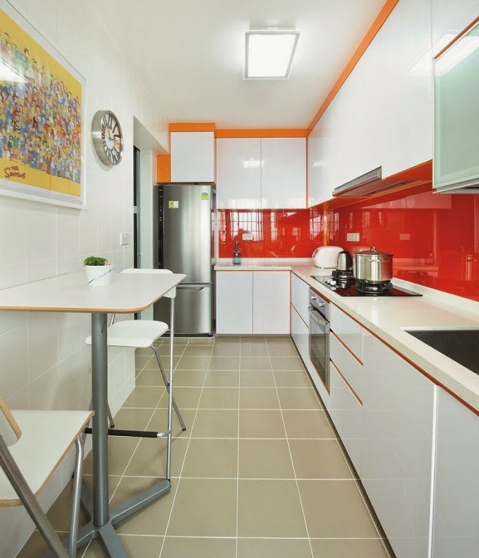 Functional long narrow kitchen ideas, designs and cabinets