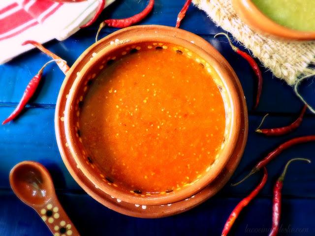 Salsa Taquera Roja (Spicy Taco Salsa) - lacocinadeleslie.com