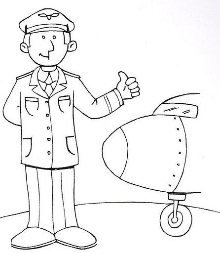Dibujo De Piloto Para Colorear