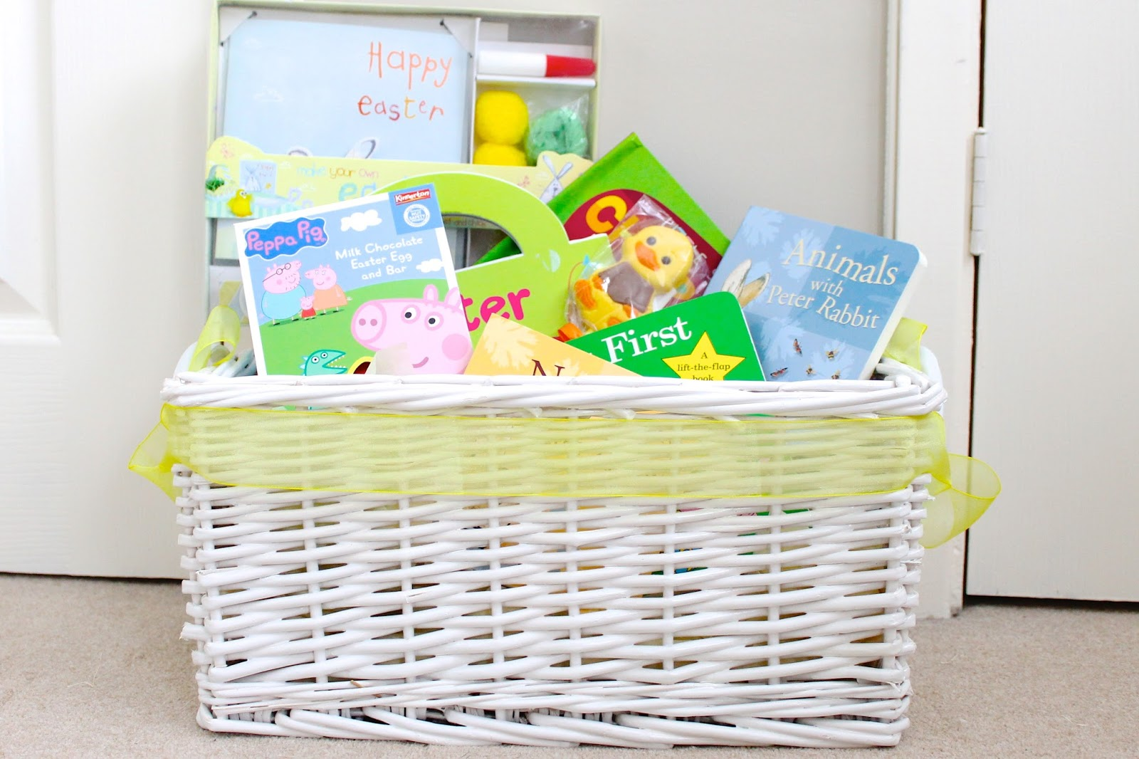 toddler easter basket, easter basket, easter books, easter gifts for toddlers