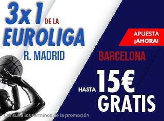 suertia promocion Euroliga Clasico Real Madrid vs Barcelona 13 diciembre