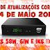 PACOTE DE ATUALIZAÇOES AZBOX BRAVISSIMO TWIN CORRIGIDAS NO 58W,61W E IKS 14.05.2017