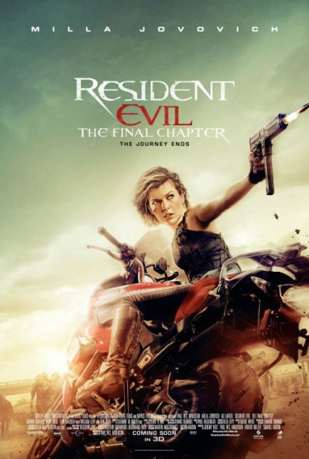 RESIDENT EVIL: THE LAST CHAPTER (2017) movie review by Glen Tripollo