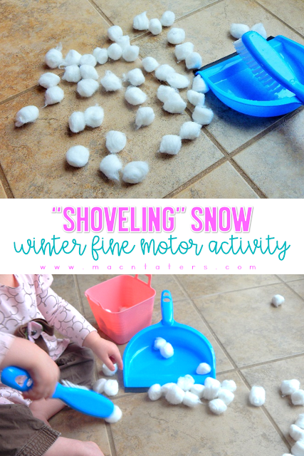 Shoveling Snow Winter Fine Motor Activity