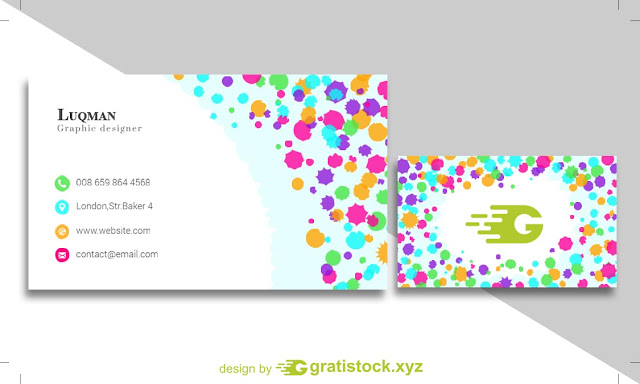 Free Download PSD Business Card With Beautiful Colored.