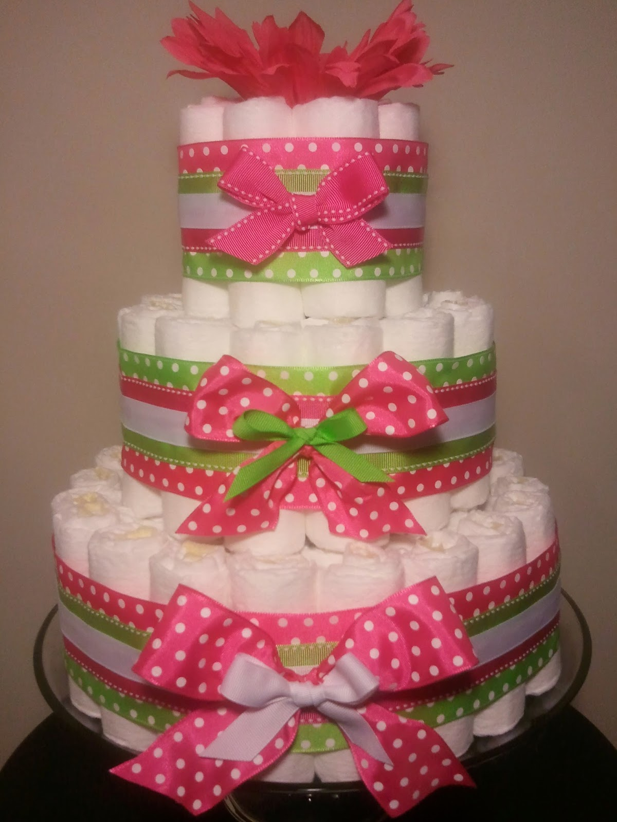 Polka Dot Diaper Cake Ideas