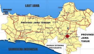 Peta  Jalan Jawa Tengah
