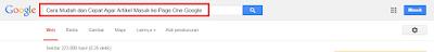 cara mudah terindex di google