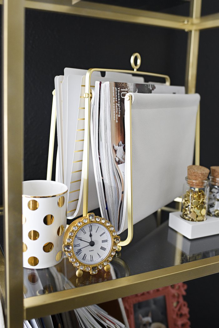 A Glam And Gold Home Office Featuring Office Supplies And Decor From  Target. The Gallery