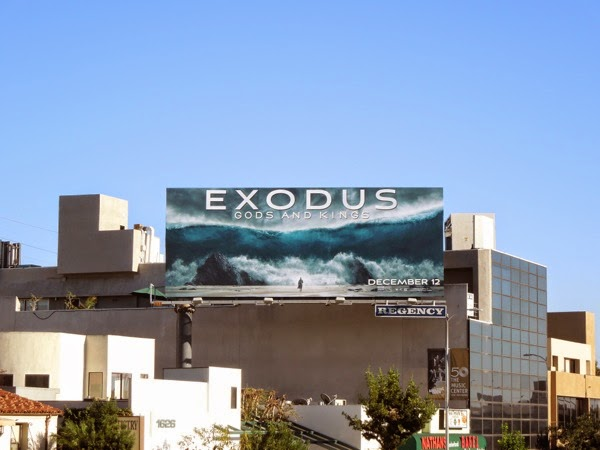 Exodus Gods and Kings film billboard