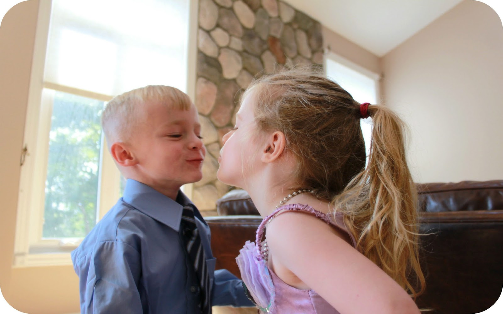 Boy Girl Lip Kiss Photo