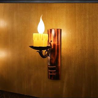 Kerajinan Dari Bambu Lampu Dinding