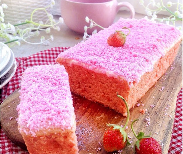 How To make Strawberry Condensed Milk Cotton Cake