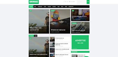 goomagz бесплатный шаблон для blogger