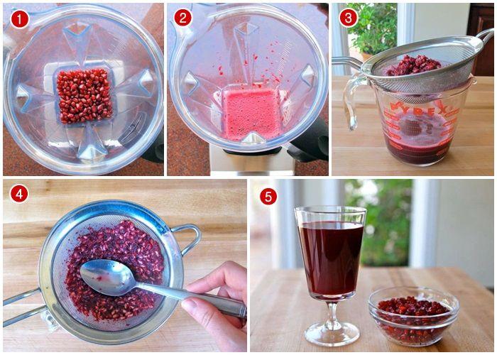 Cara membuat jus delima merah