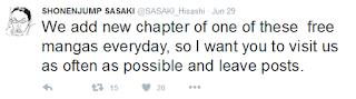Sasaki's tweet