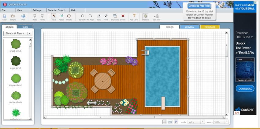 Online Garden Planner At SmallBluePrinter.com