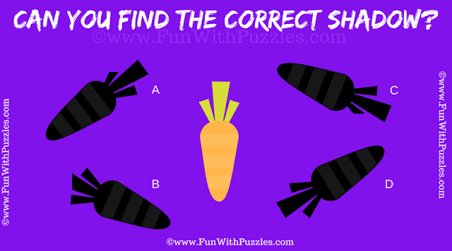 It is an easy Picture Shadow Brain Teaser in which one has to find the matching shadow of the given puzzle image