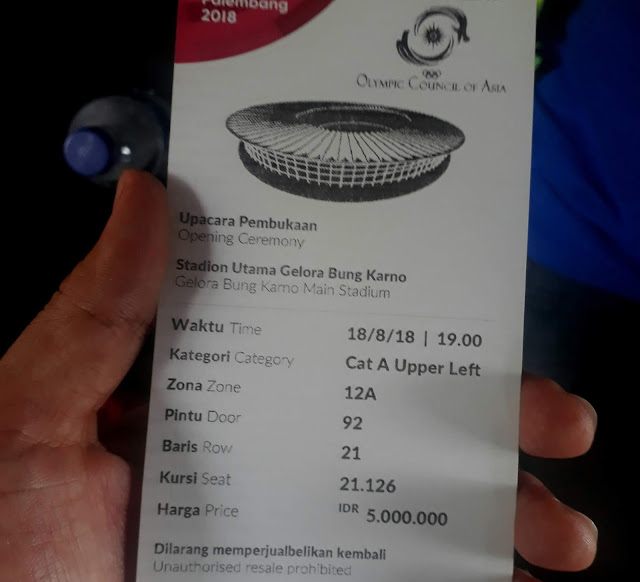Tiket VIP Opening Ceremony Asian Games 2018