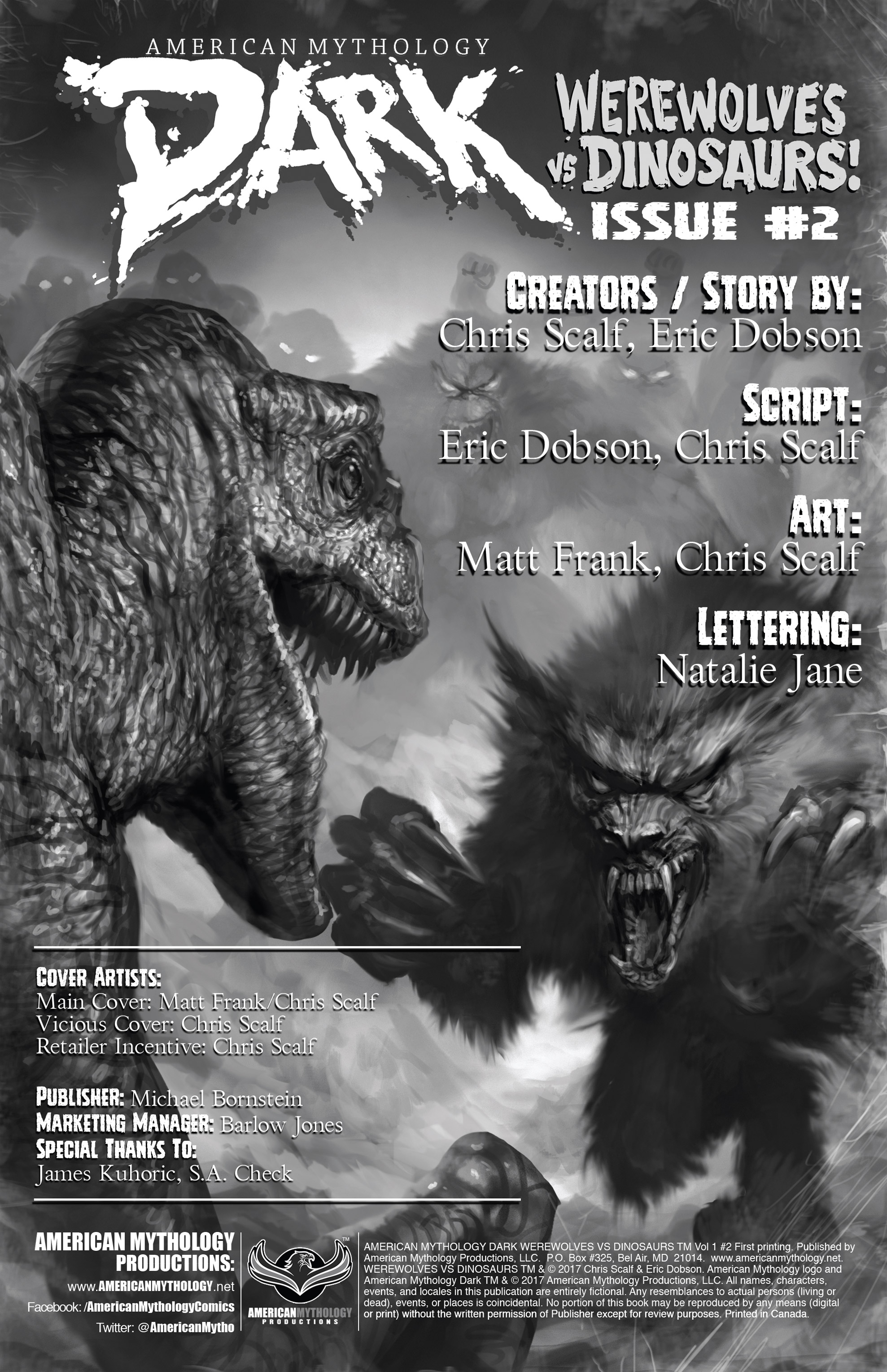 Read online American Mythology Dark: Werewolves vs Dinosaurs comic -  Issue #2 - 2