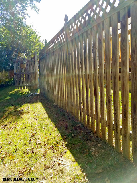 6' Wooden fence with gate