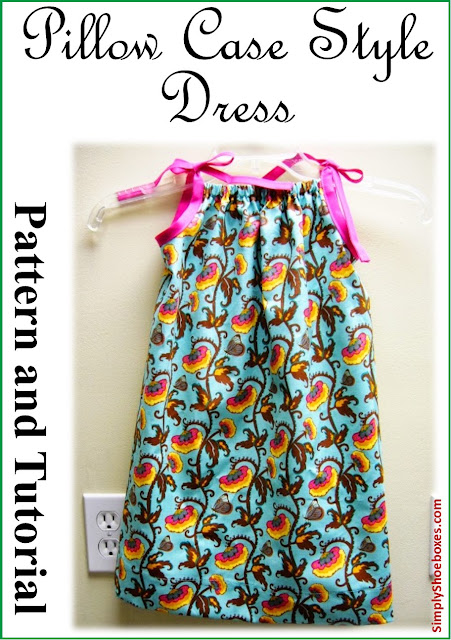 Pillow case style dress pattern and illustrated tutorial.