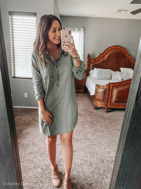 army green old navy dress fall booties