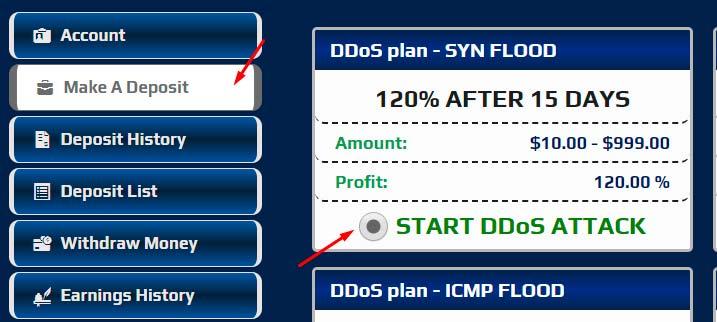 Регистрация в NobleDDoS 3