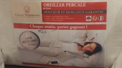 oreillers percale