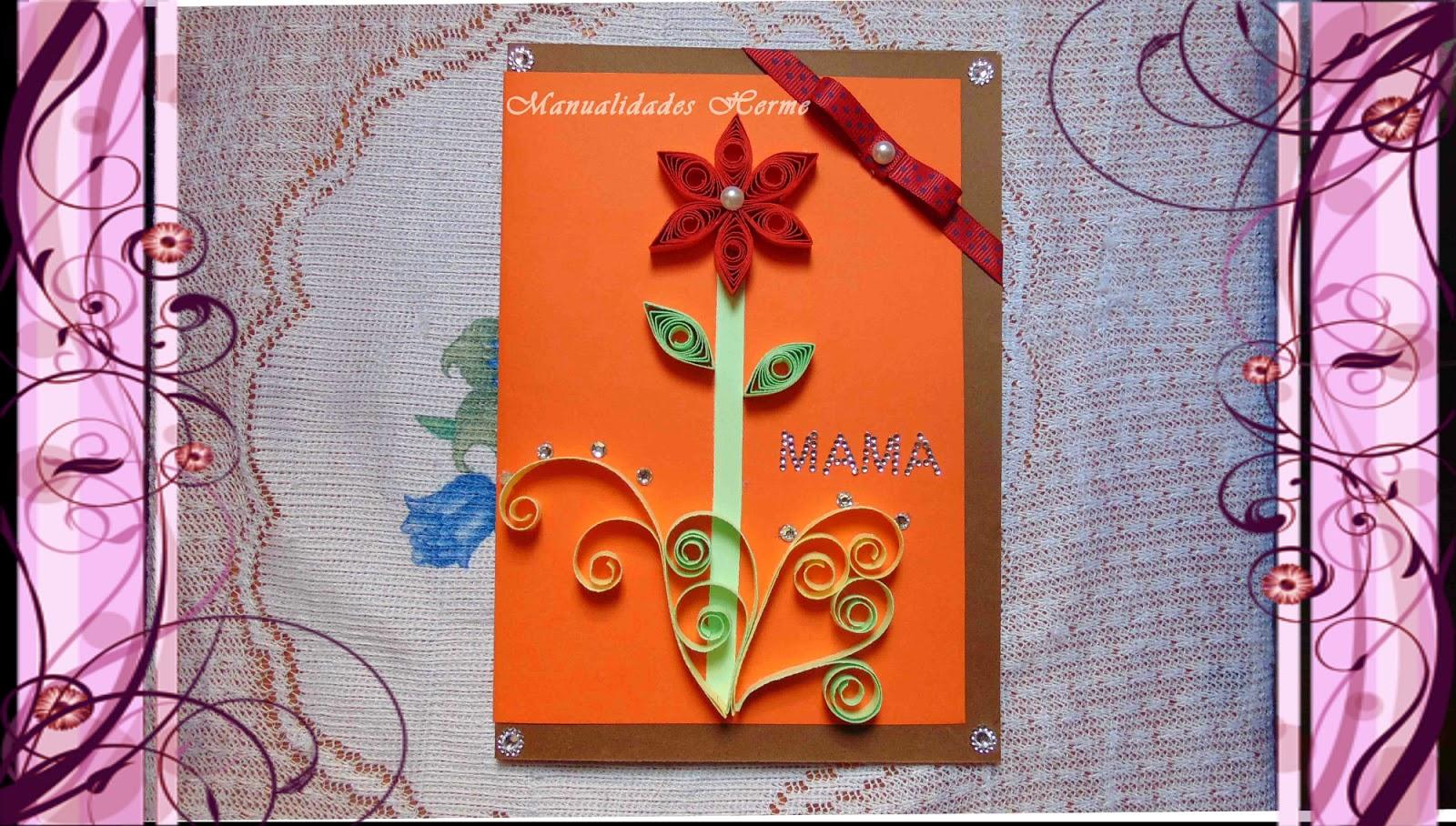 Manualidades herme como hacer una tarjeta del d a de la madre - Ver como hacer manualidades ...