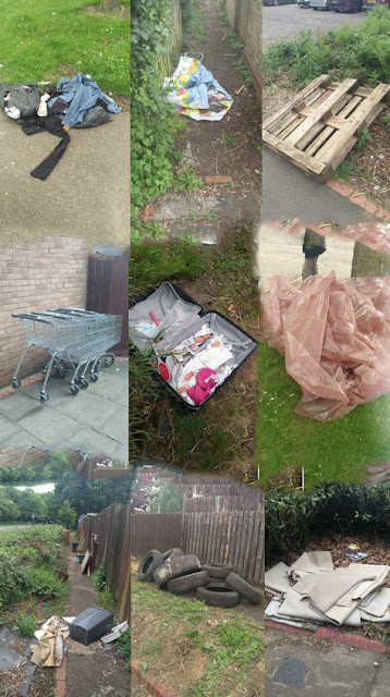 fly-tip collage