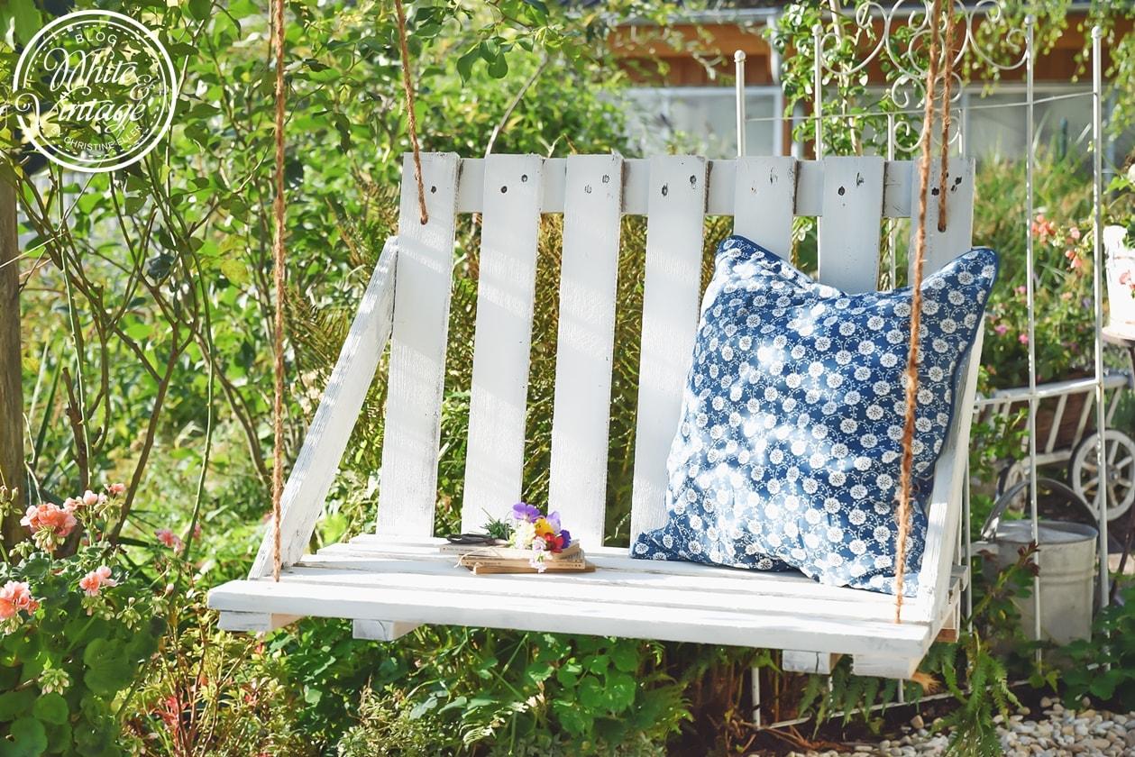 Gartenschaukel aus Paletten selber bauen.