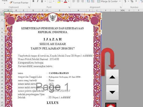 Aplikasi Cetak Ijazah SD 2017