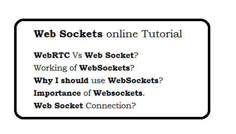 Web sockets online Tutorial