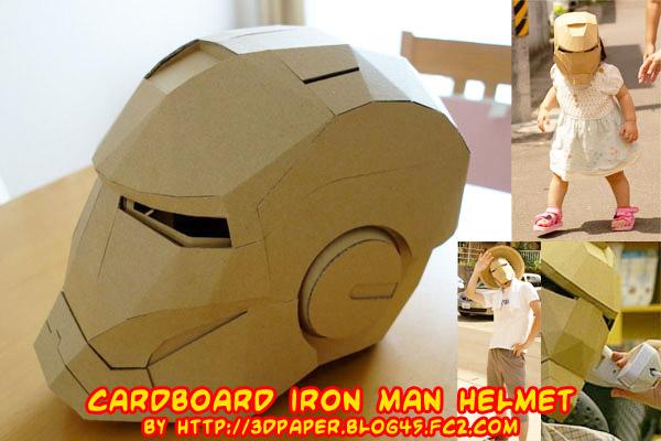 Ninjatoes' papercraft weblog: Cardboard Iron Man helmet!