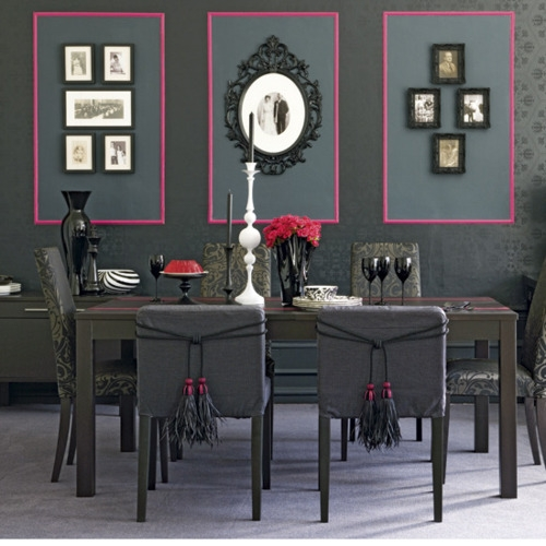 DeKoBook: Salle à manger baroque gris et rose fushia