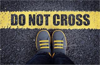 do not cross