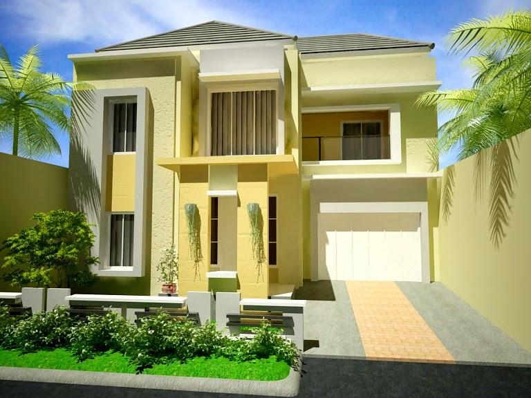 Desain Rumah Minimalis Modern 2 Lantai Sangat Anggun 100