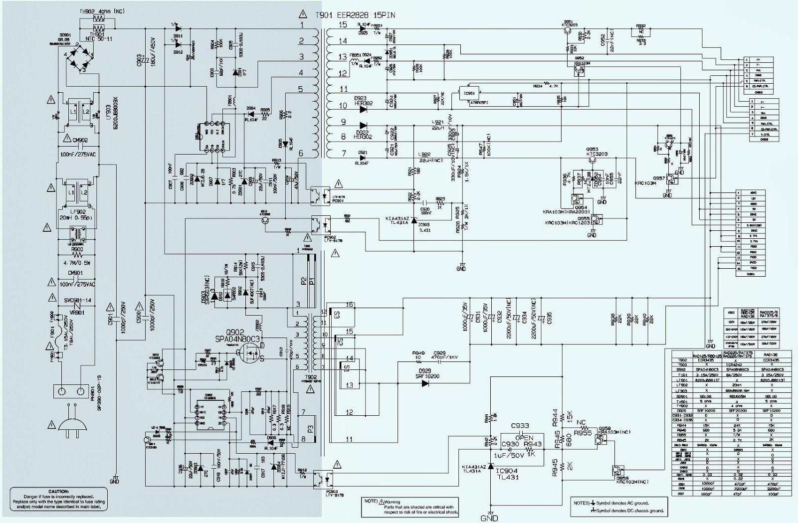 Lg Schematic Diagrams Model 47ln5400 Ua  Wiring Diagram