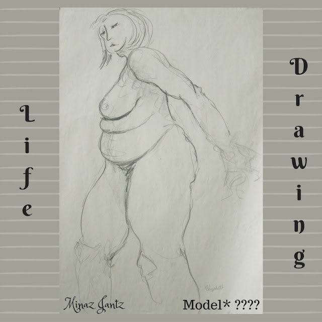 Life Drawing by Minaz Jantz Model ????
